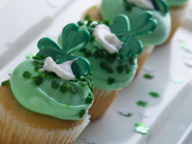 St. Patrick's Day Cupcake Stock Image