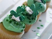 St. Patrick's Day Cupcake Stock Image