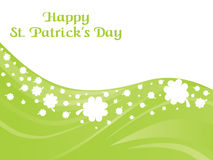 St. patrick's  day curve shamrock background Royalty Free Stock Images