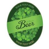 St. Patrick's Day custom beer label. With shamrock leaves stock illustration