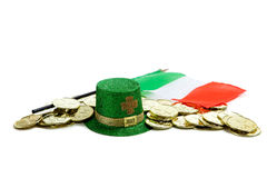 St. Patrick's day decorations on white Stock Photography