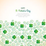 St. Patrick`s day decorative background with many clovers. Royalty Free Stock Photo