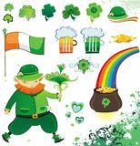 St. Patrick's Day design. Vector St. Patrick's day icons and illustrations Royalty Free Stock Images