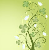 St. Patrick's Day design. Green background design with shamrock Stock Photo