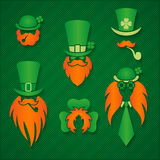 St. Patrick's day design elements vector illustration Stock Photos