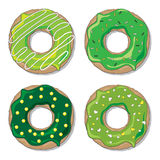St Patrick's Day donut set Stock Images