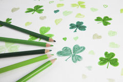 St Patrick's Day drawing Stock Images