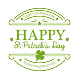 St Patrick's Day Emblem Royalty Free Stock Photos