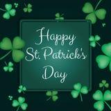 St. Patrick`s Day. Emblems leaf clover. Typography. Vector illustration stock illustration
