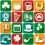 St. Patrick's Day flat icons Vector set. Royalty Free Stock Photos