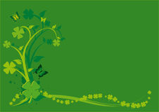 St. Patrick's Day Floral Background Stock Image