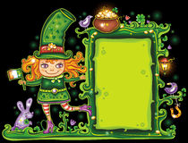 Free St. Patrick S Day Floral Frame Stock Images - 13056364