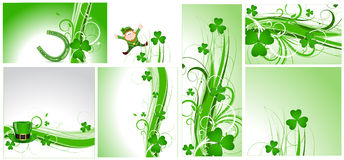 St. Patrick's Day Flourish Backgrounds Stock Photos