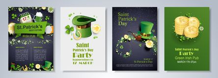St patrick`s day flyer template Stock Photography