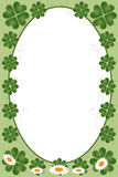 St. Patrick's day frame. Illustration of an oval frame for St. Patrick' day. EPS file available Stock Photo