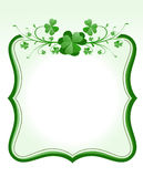 St. Patrick`s Day frame Royalty Free Stock Photos