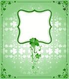 St. Patrick`s Day frame Stock Photography