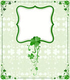 St. Patrick`s Day frame Stock Photos