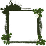St. Patrick's Day frame. Grunge design, isolated objects over white Royalty Free Stock Images