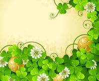 St. Patrick's Day frame 4 Stock Image
