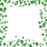 St Patrick s Day frame isolated on white background. EPS 10. St Patrick s Day frame isolated on white background. Ireland symbol pattern. And also includes EPS Royalty Free Stock Image