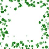 St Patrick s Day frame isolated on white background. EPS 10 vector. St Patrick s Day frame isolated on white background. Ireland symbol pattern. And also Royalty Free Stock Image