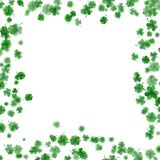 St Patrick s Day frame isolated on white background. EPS 10 vector. St Patrick s Day frame isolated on white background. Ireland symbol pattern. And also Stock Images