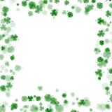 St Patrick s Day frame isolated on white background. EPS 10 vector. St Patrick s Day frame isolated on white background. Ireland symbol pattern. And also Stock Image