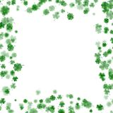 St Patrick s Day frame isolated on white background. EPS 10 vector. St Patrick s Day frame isolated on white background. Ireland symbol pattern. And also Stock Photo
