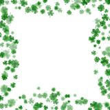 St Patrick s Day frame isolated on white background. EPS 10 vector. St Patrick s Day frame isolated on white background. Ireland symbol pattern. And also Royalty Free Stock Photos