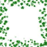 St Patrick s Day frame isolated on white background. EPS 10 vector. St Patrick s Day frame isolated on white background. Ireland symbol pattern. And also Stock Photos