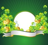 St. Patrick's Day frame with ribbon Royalty Free Stock Image