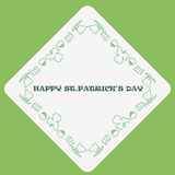 St.Patrick's day frame. Vector template stock illustration