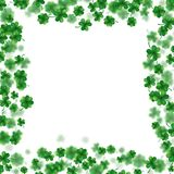 St Patrick s Day frame  on white background. EPS 10 vector. St Patrick s Day frame  on white background. Ireland symbol pattern. And also includes EPS 10 vector Stock Image