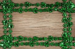 St. Patrick's Day. Frame on wooden background Stock Image