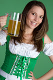 St Patrick's Day Girl. St patrick's day beer girl Stock Photography