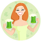 St. Patrick's Day girl Stock Photos