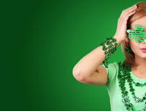 St Patrick's day Girl. Blonde Young woman stock images