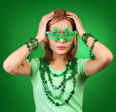 St Patrick's day Girl Royalty Free Stock Photography