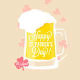 St. Patrick's day - glass of light beer Royalty Free Stock Photos