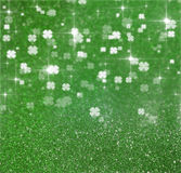 St. Patrick´s Day Glitter Clover Illustration Royalty Free Stock Images