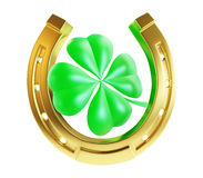 St. Patrick's day gold horseshoe Stock Photo