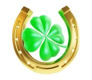 St. Patrick's day gold horseshoe Stock Photo