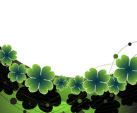 St. Patrick's day  green background Stock Images