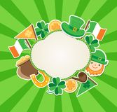 St. Patrick`s Day green background Stock Images