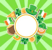 St. Patrick`s Day green background Stock Photography