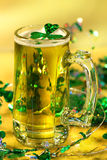 St Patrick's Day green beer stock image