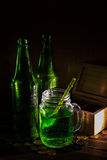 St Patrick`s day green beer Royalty Free Stock Photography