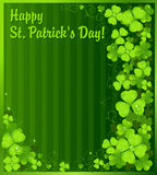 St. Patrick's Day green clover background royalty free stock photography