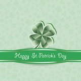St. Patrick's Day.  Green clover  background. Stock Photography
